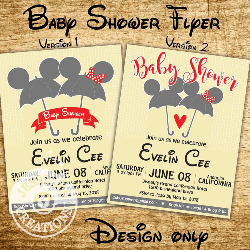 Baby Shower Postcards & Flyers - Special Occasions | Wedding Invitation, Programs, & Stationery | Invitations | Jessichu Creations