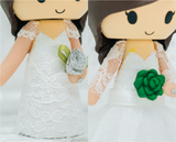 Add a Sign or Platform Upgrade to your custom Wedding Cake Topper Figurines | Cake Toppers | Toppers | Jessichu Creations