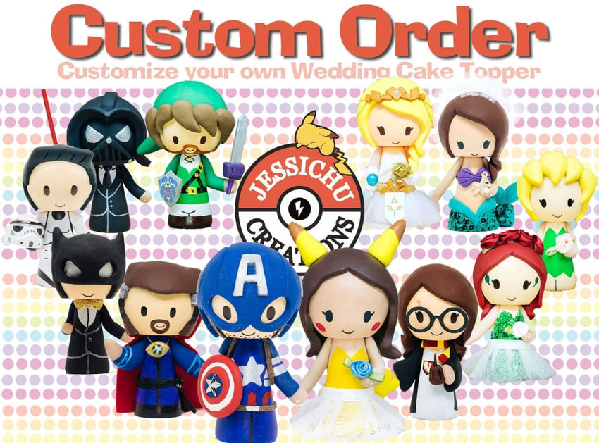 Jedi Groom And Gryffindor Bride Inspired Star Wars X Harry Potter Custom Made Figurine Wedding Cake Topper Gallery