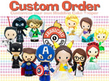 Wedding Cake Topper Figurines Costume Type - Custom Order Toppers