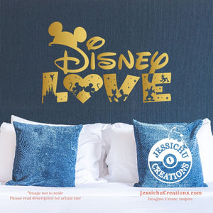 Disney Love Inspired Wall Vinyl Decal Decals