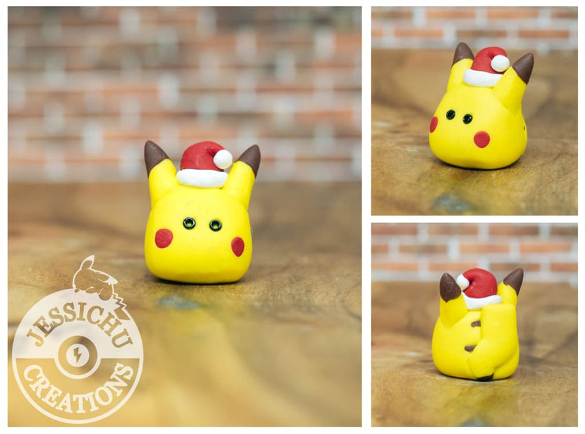 Pokemon Pokeball Christmas Tree Ornament With Santa Pikachu Figurine Proposals