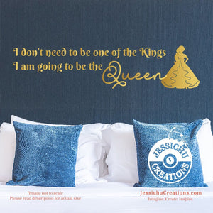 I am going to be Queen. - Princess Elena of Avalor Inspired Disney Quote Wall Vinyl Decal Decals