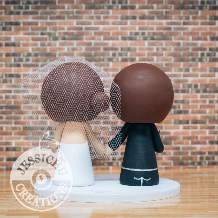 Harry Potter Couple Wedding Cake Topper | Jessichu Creations