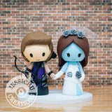 Hawkeye and Corpse Bride Wedding Cake Topper | Marvel x Disney Tim Burton | Jessichu Creations