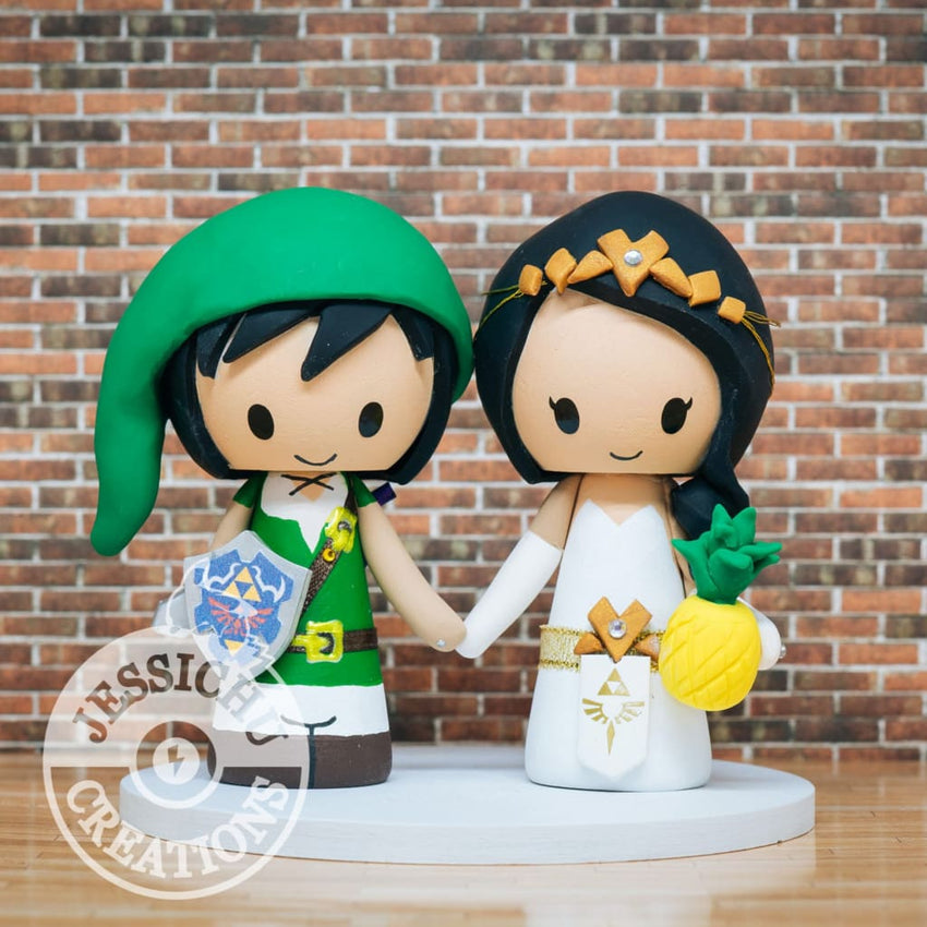 Link and Zelda Wedding Cake Topper | Nintendo | Jessichu Creations