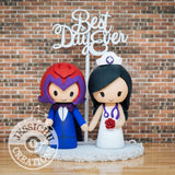 Magneto and Nurse Wedding Cake Topper | Marvel X-Men | Jessichu Creations