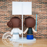 Han Solo and Princess Leia Wedding Cake Topper | Star Wars | Jessichu Creations