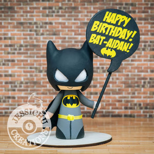 Batman Birthday Cake Topper | DC | Jessichu Creations