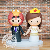 Ironman and Wonder Woman Wedding Cake Topper | Marvel x DC | Jessichu Creations