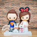 Superman and Minnie Mouse Wedding Cake Topper | DC x Disney | Jessichu Creations