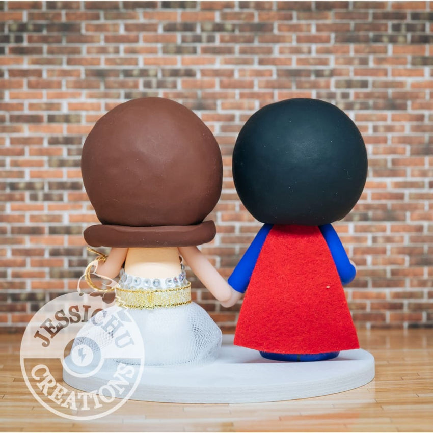 Superman Groom & Wonder Woman Bride - DC Inspired Wedding Cake Topper Cake Topper Gallery