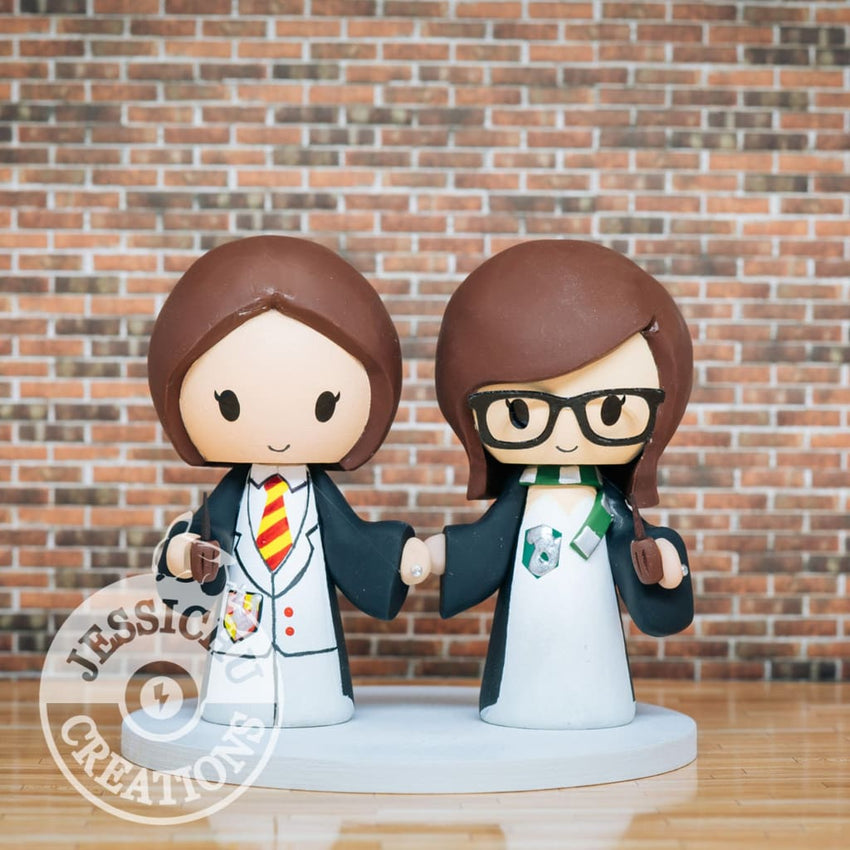 Harry Potter LGBT Wedding Cake Topper | Jessichu Creations
