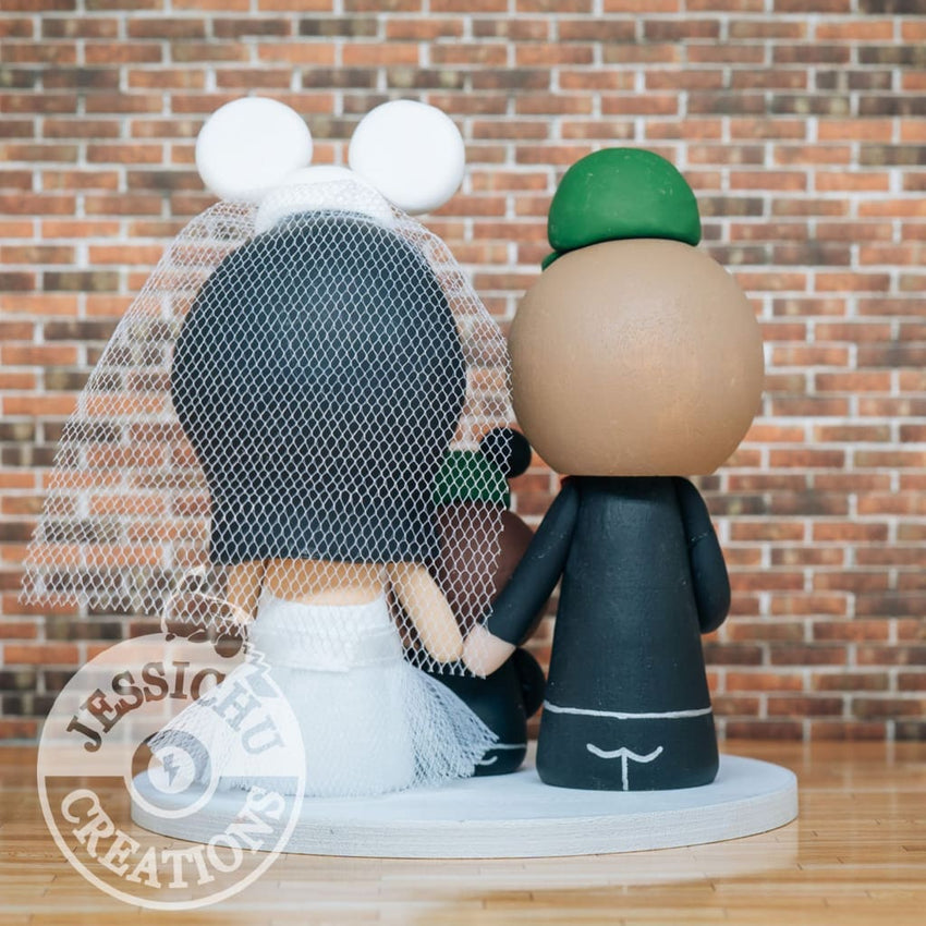 John Deere and Mickey Mouse with child Wedding Cake Topper | Disney | Jessichu Creations