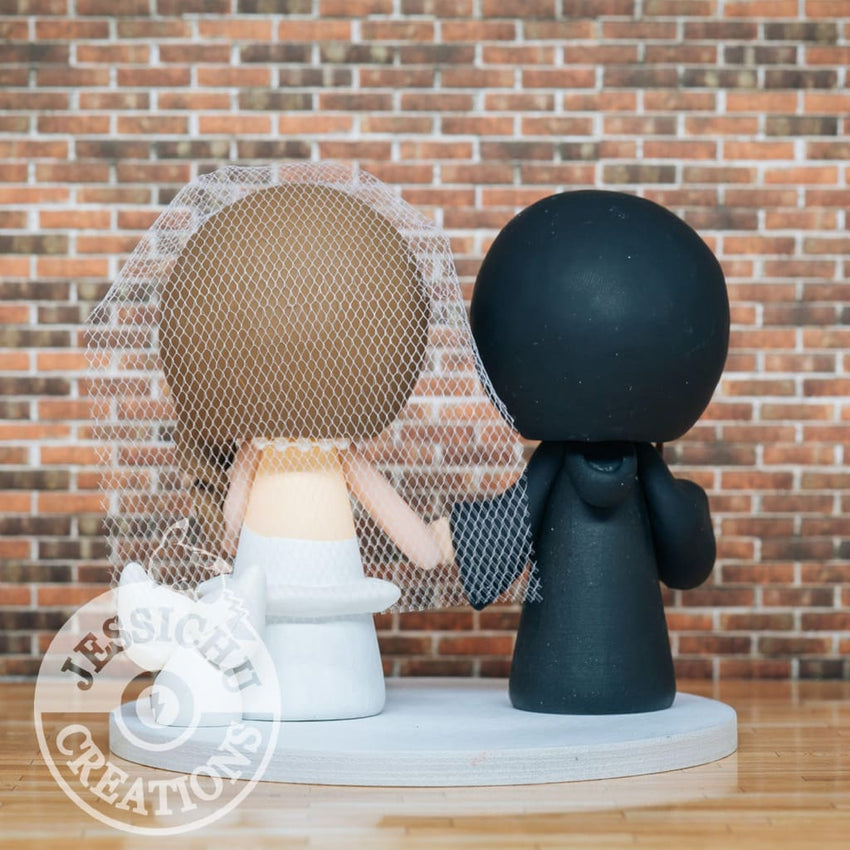 Harry Potter and Mermaid Wedding Cake Topper | HP x Disney | Jessichu Creations