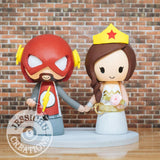 The Flash and Wonder Woman Wedding Cake Topper | DC | Jessichu Creations