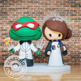 Ninja Turtles and Harry Potter Wedding Cake Topper | TMNT x HP | Jessichu Creations