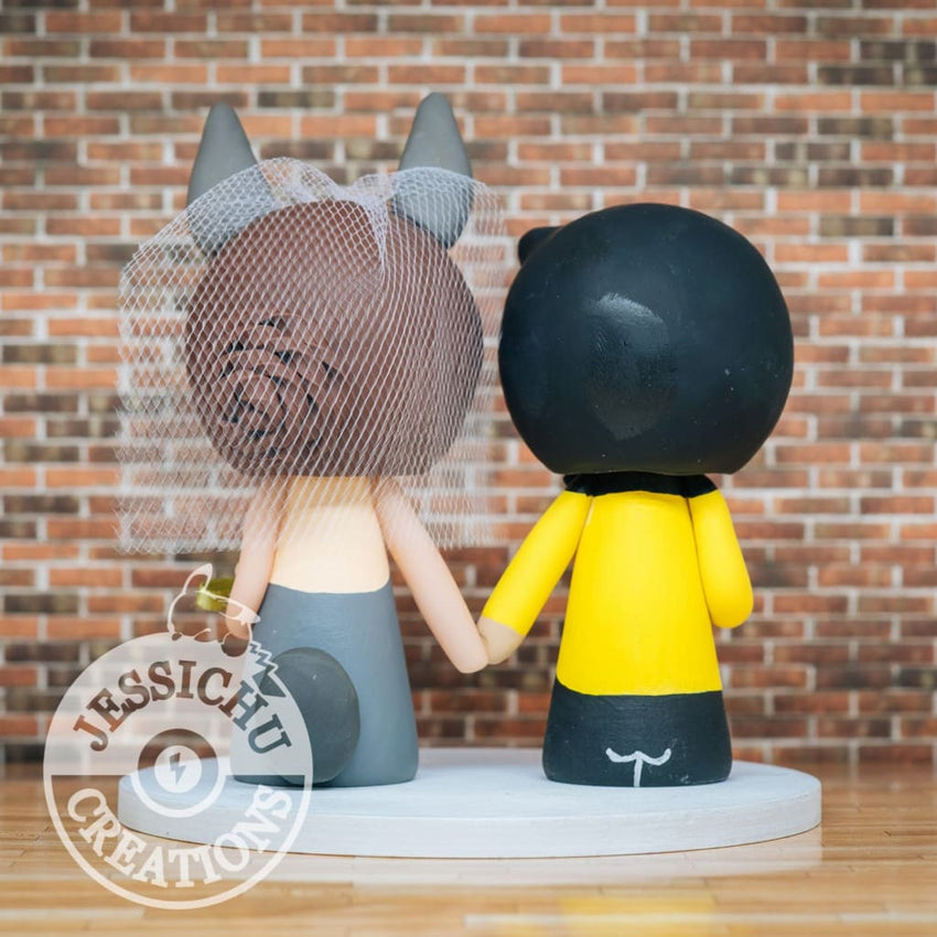 Captain Kirk and Totoro Wedding Cake Topper | Star Trek x Ghibli Studios | Jessichu Creations