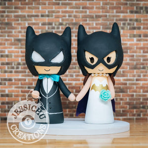 Batman and Batgirl Wedding Cake Topper | DC Comics | Jessichu Creations