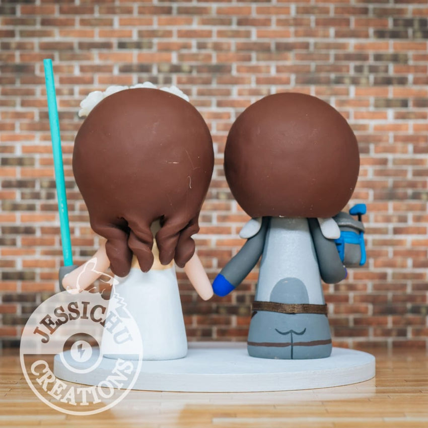 Boba Fett and Bride Wedding Cake Topper | Star Wars | Jessichu Creations