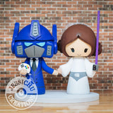 Optimus Prime and Princess Leia Wedding Cake Topper | Transformers x Star Wars | Jessichu Creations