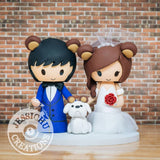 Bear Family Wedding Cake Topper | Jessichu Creations