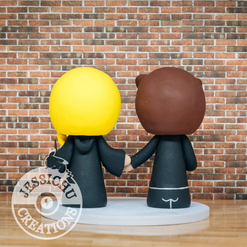 Wolverine and Harry Potter Wedding Cake Topper | Marvel X-Men x HP | Jessichu Creations