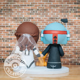 Boba Fett and Stormtrooper Wedding Cake Topper | Star Wars | Jessichu Creations