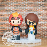 Ironman and Witch Wedding Cake Topper | Marvel x Harry Potter | Jessichu Creations