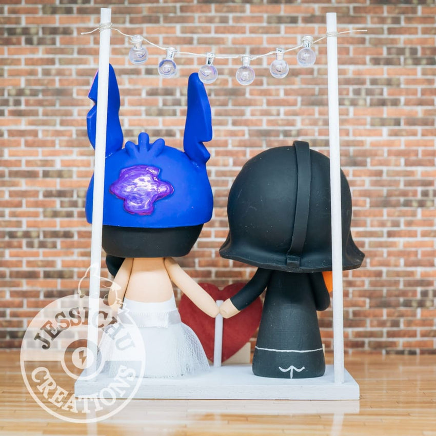 Darth Vader and Stitch Wedding Cake Topper | Star Wars x Disney | Jessichu Creations
