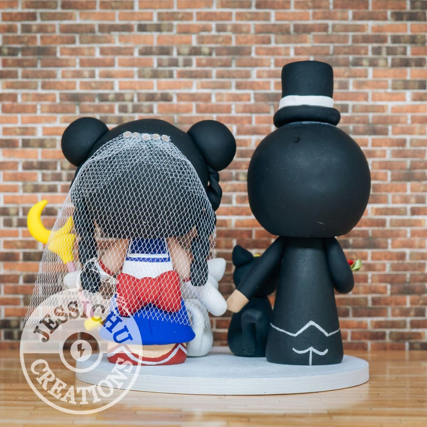 Tuxedo Mask and Princess Serenity Wedding Cake Topper | Sailor Moon | Jessichu Creations