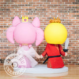 King Joffrey and Sailor Chibi Moon Rini Wedding Cake Topper | Game of Thrones x Sailor Moon | Jessichu Creations