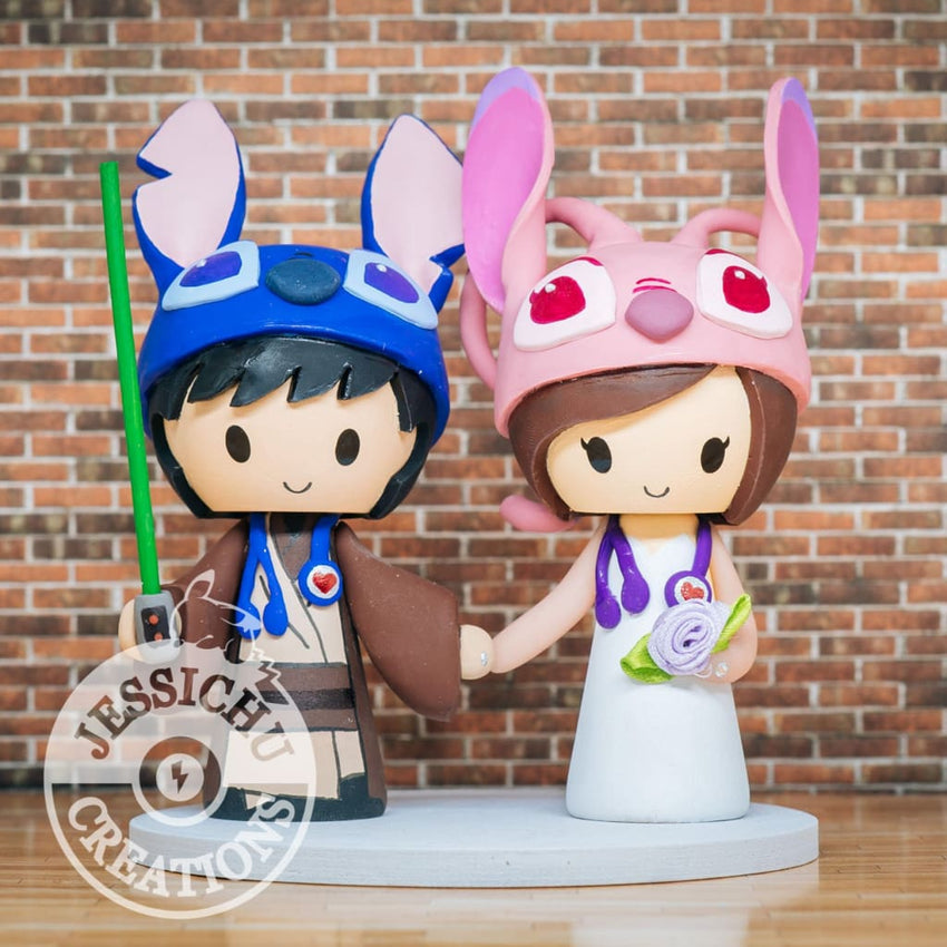 Jedi Stitch Groom & Angel Bride - Lilo and Stitch x Disney ...