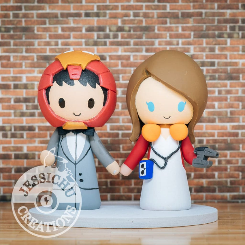 Ironman and Starlord Wedding Cake Topper | Marvel x Guardian of the Galaxy | Jessichu Creations