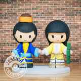 Legend of Condor Heroes Chinese Fairy Tale Wedding Cake Topper | Jessichu Creations