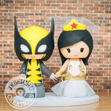 Wolverine and Wonder Woman Wedding Cake Topper | Marvel X-Men x DC | Jessichu Creations