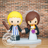 Cubs Fan and Harry Potter Wedding Cake Topper | Sports x HP | Jessichu Creations