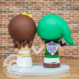 Link and Wonder Woman Wedding Cake Topper | Zelda x DC | Jessichu Creations