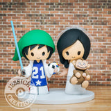 Naurto and Curious George Geeky Couple Wedding Cake Topper | Jessichu Creations