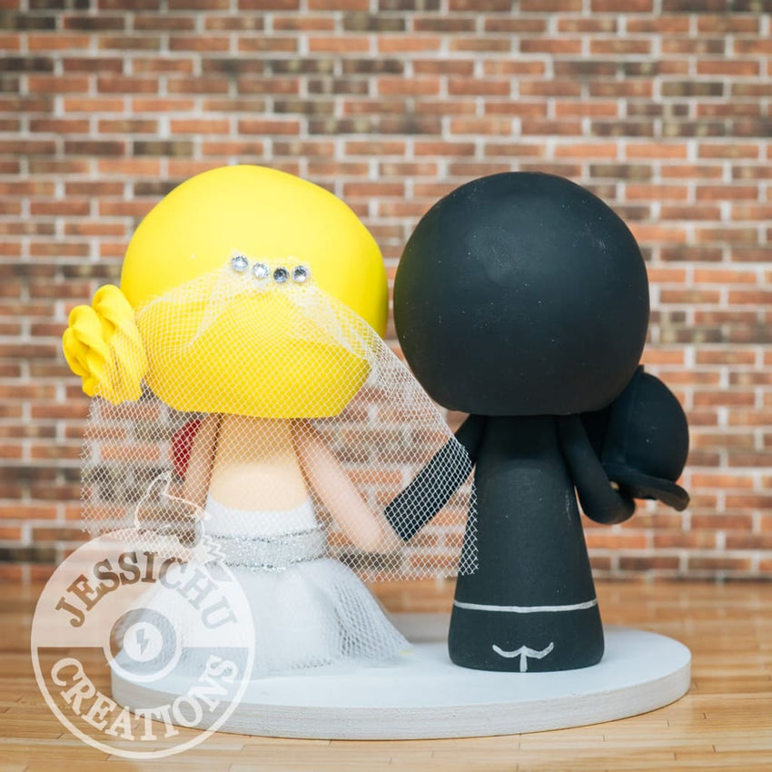 Darth Vader and D20 Gamer Bride Wedding Cake Topper | Star Wars | Jessichu Creations
