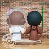 Jedi and Princess Leia Wedding Cake Topper | Star Wars | Jessichu Creations