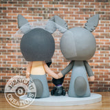 Totoro Couple Wedding Cake Topper | Studio Ghibli | Jessichu Creations
