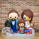 Darth Vader and Gryffindor with Jedi Wedding Cake Topper | Star Wars x HP | Jessichu Creations