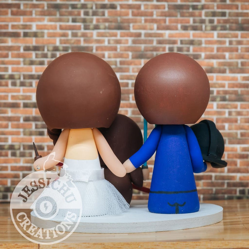 Darth Vader and Gryffindor with Jedi Child Wedding Cake Topper | Star Wars x HP | Jessichu Creations