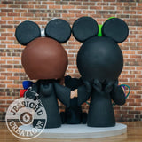 Minnie Mouse Harry Potter Hufflepuff & Ravenclaw Wedding Cake Topper | Disney x HP | Jessichu Creations