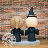 Harry Potter Couple Hufflepuff and Slytherin Wedding Cake Topper | Jessichu Creations