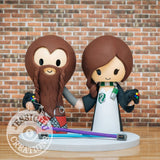 Gimli and Ravenclaw Gamers Wedding Cake Topper | LoTR x Harry Potter | Jessichu Creations