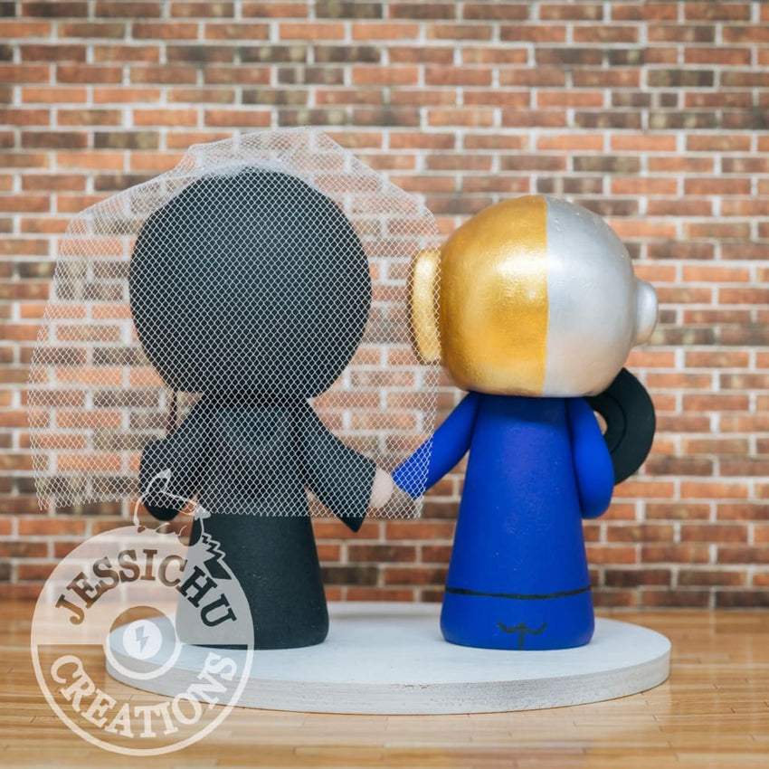 Daft Punk Vinyl Label and Harry Potter Wedding Cake Topper | Music x HP | Jessichu Creations