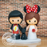 The Flash and Minnie Mouse Wedding Cake Topper | DC x Disney | Jessichu Creations