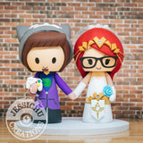 Gamer Boy and Zelda Wedding Cake Topper | Jessichu Creations